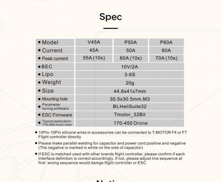T-Motor P50A 6s Blheli32 ESC