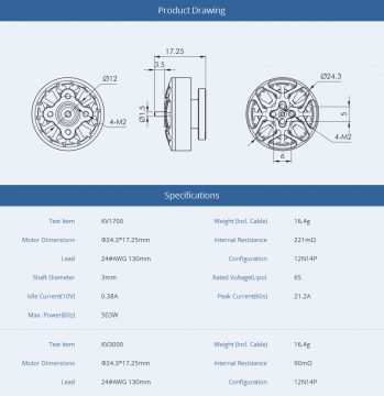T-Motor F2004 3000KV Brushless Motor
