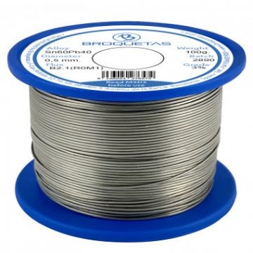 Premium soldering tin 60/40 lead-containing with resin flux